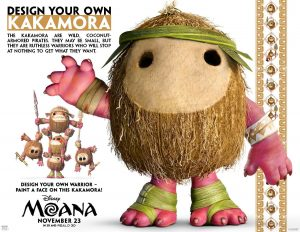 Disney's Moana coloring pages and activity sheets,, how to make your own Kakamora