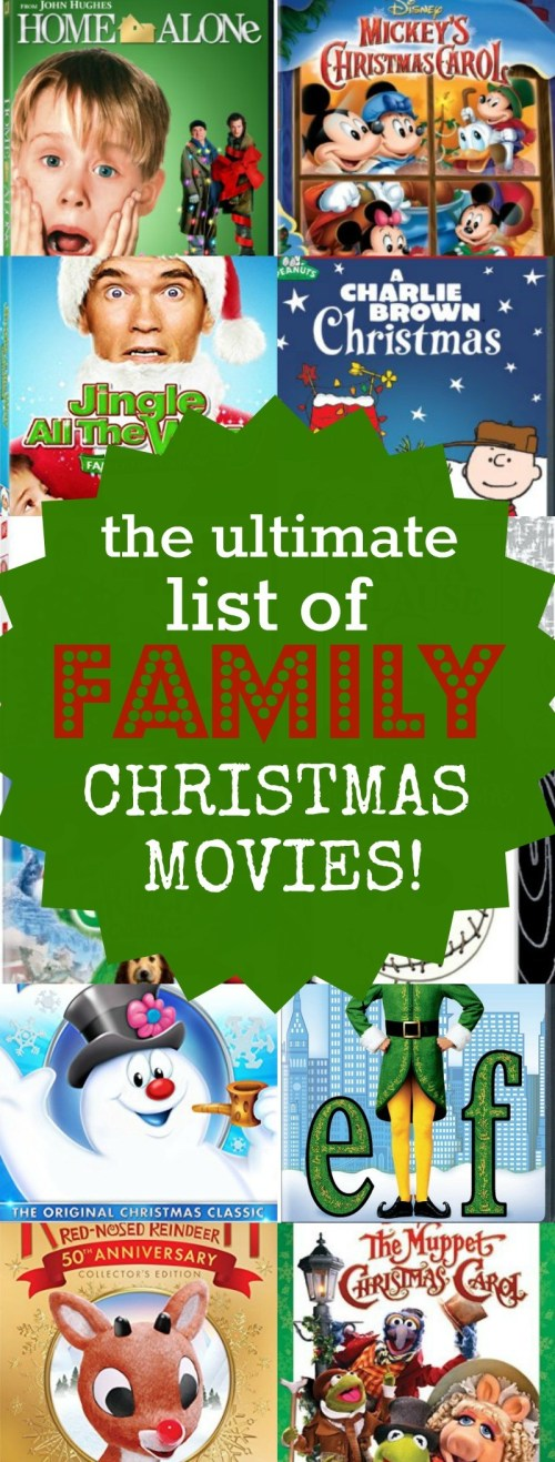 The ultimate list of family Christmas movies... There are so many classics here, you'll love watching these with your kids during the holidays. We love family holiday movies