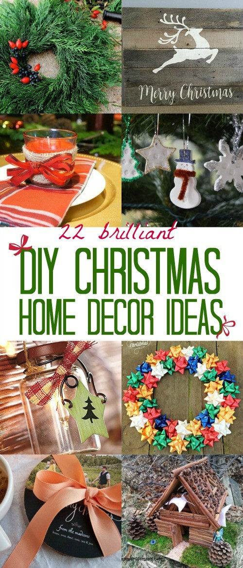 22 of the most brilliant DIY Christmas home decor ideas, these are so cute and so much fun to make for the holidays!