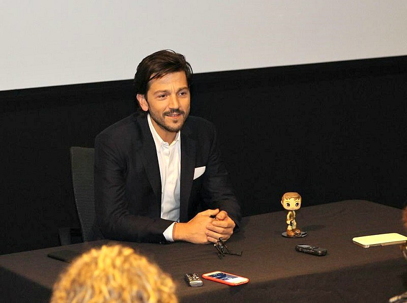 Diego Luna of Rogue One : A Star Wars Story movie press day interviews