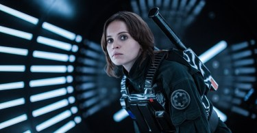 Felicity Jones is Jyn Erso in the movie Rogue One A Star Wars Story