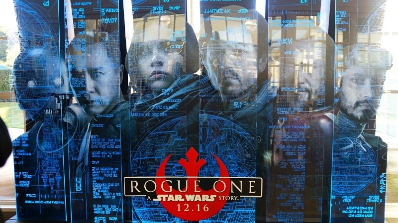 Photos of Lucasfilm headquarters, Rogue One Star Wars display