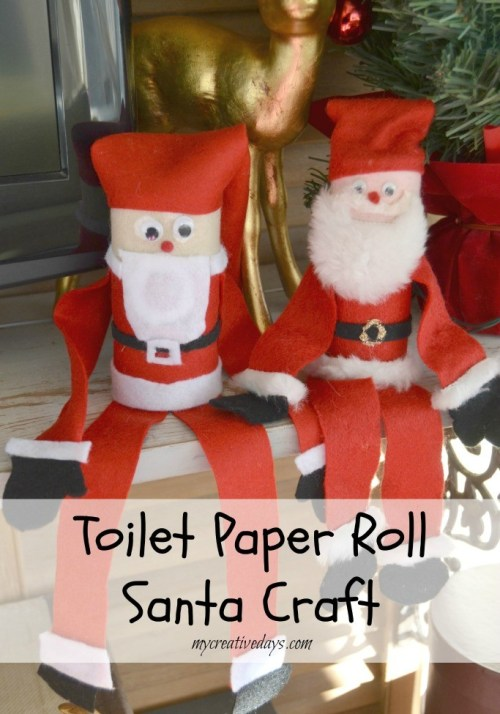 toilet paper roll Santa craft