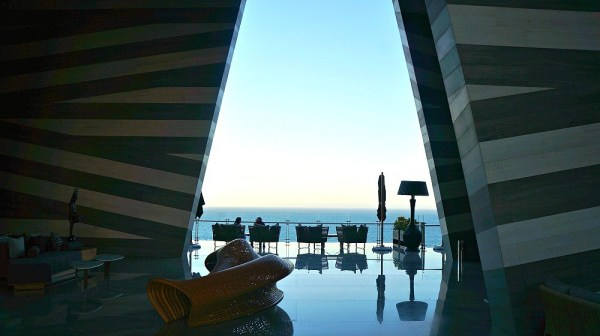 Grand Velas Los Cabos lobby overlooks the ocean