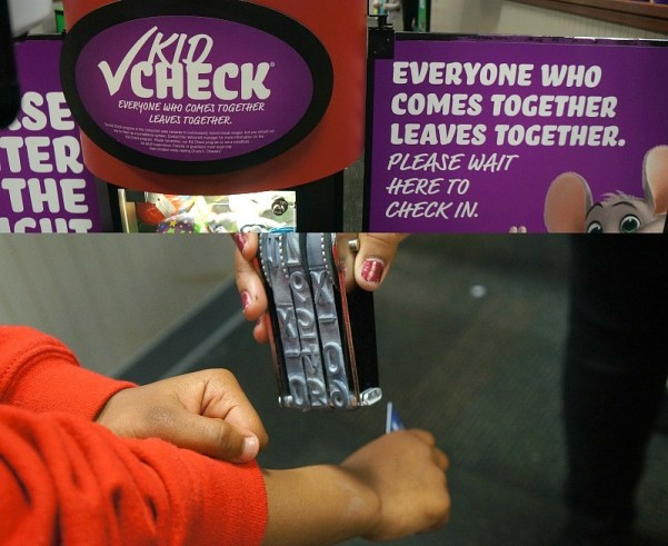 Chuck E. Cheese's Kid Check station, safe and affordable fun for kids