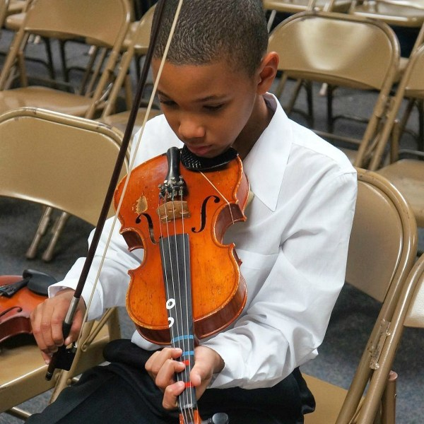 Non competitive activities for kids - playing the viola