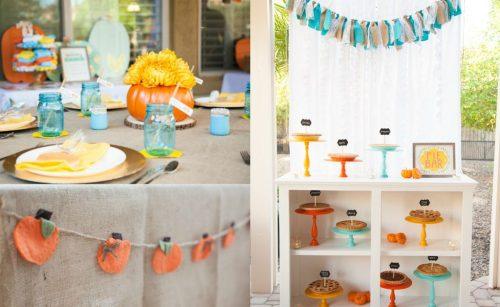 Little Pumpkin baby shower theme, See Vanessa Craft