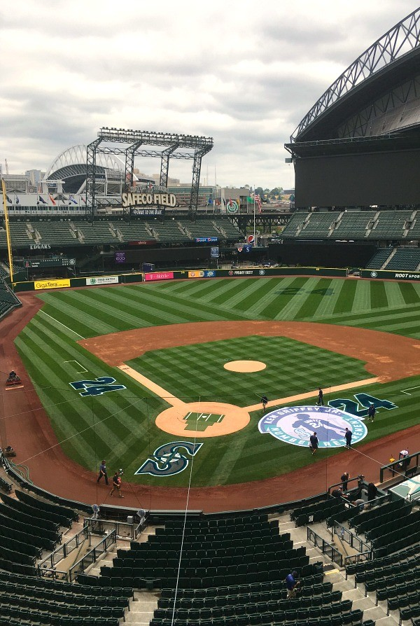 Safeco Field Tour Review: Home of the Seattle Mariners, view of the field from the press box