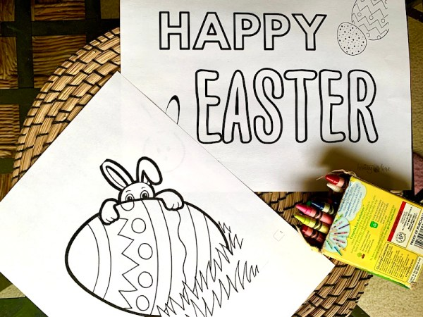 Free coloring prints for Easter