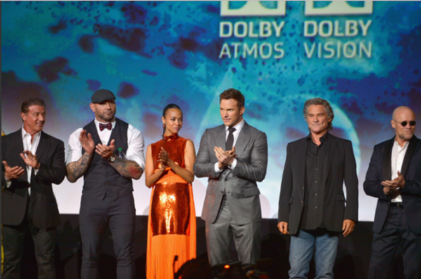 Marvel's Guardians of the Galaxy 2 premiere in Los Angeles, CA, cast on stage at the Dolby Theater