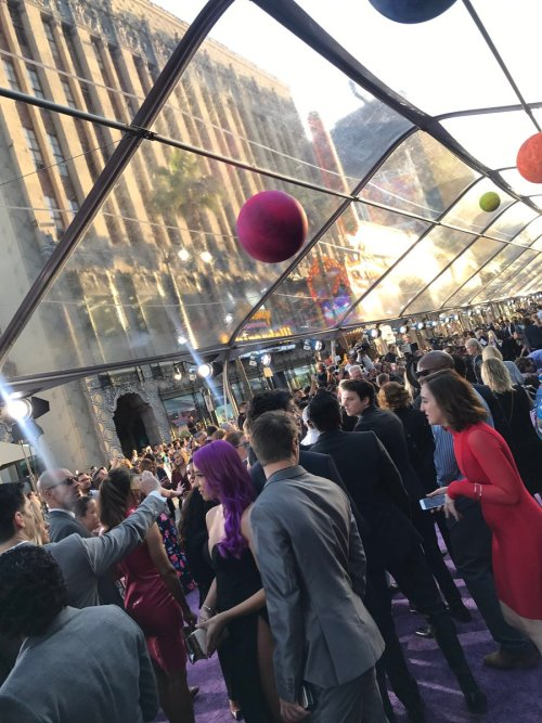Marvel's Guardians of the Galaxy World premiere in Los Angeles, CA red carpet atmosphere
