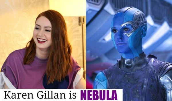 Guardians of the Galaxy Vol 2 new characters, Karen Gillan is NEBULA