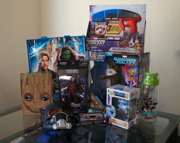 Marvel Guardians of the Galaxy 2 merchandise items
