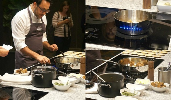 Chef Christopher Kostow cooks on Samsung Chef Collection Cooktop