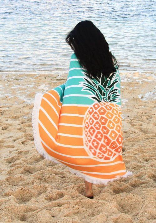 Pineapple beach blanket