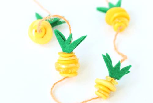 Pineapple necklace kids craft, Raising Whasians