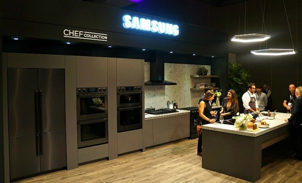 Samsung Chef Collection kitchen appliances showroom at PCBC San Diego, CA