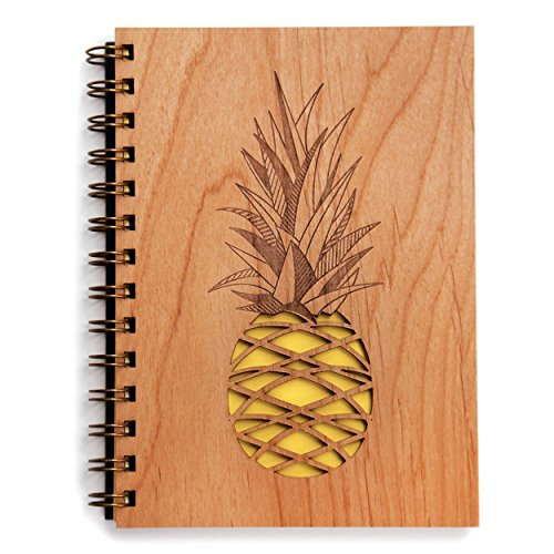 Wooden pineapple journal, Cardtorial
