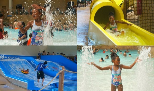 Kids play at Great Wolf Lodge indoor water park in Garden Grove, California