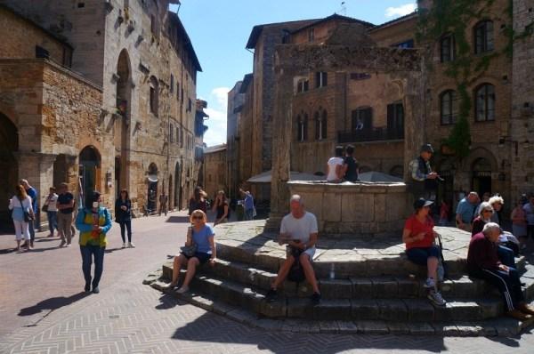San Gimignano old medieval city in Tuscany Italy