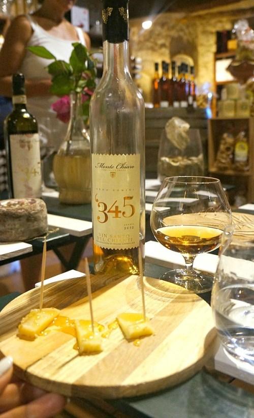 Wine tasting at Monteriggioni village, Tuscany Italy