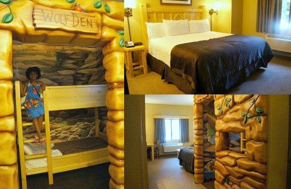 Wolf Den themed room at Great Wolf Lodge in California