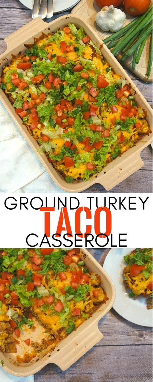 This Easy Turkey Taco Casserole Recipe Saves Our Weeknight Dinners | Ground Turkey Casserole | honeyandlime.co