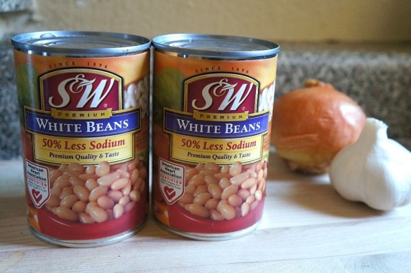 S&W Premium White Beans with 50 less sodium