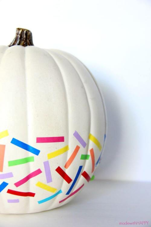 Washi tape pumpkin Made With Happy