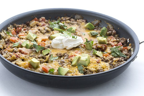 Low Carb Mexican Cauliflower Rice Skillet, All Day I Dream About Food