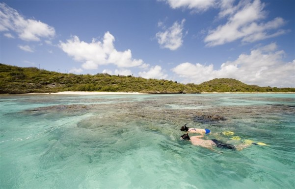 Photos of Antigua beaches, Snorkeling at Green Island
