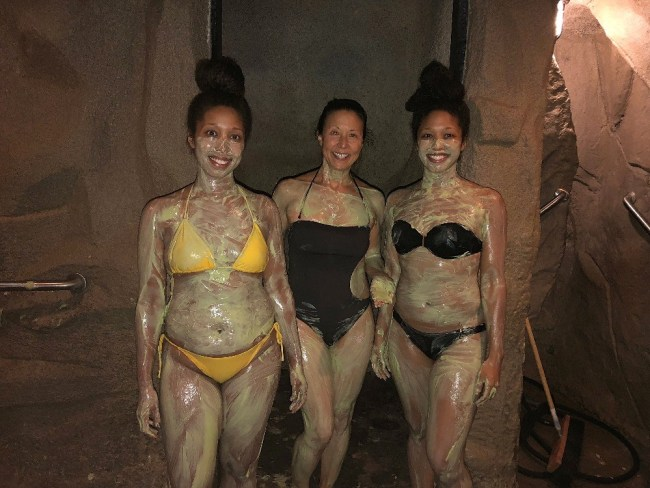Ladies in The Grotto Treatment room at Glen Ivy Hot Springs and Spa in Corona CA