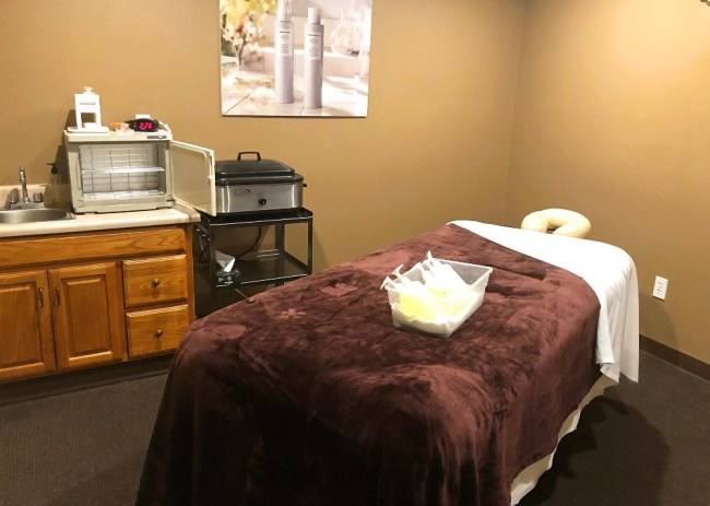 Massage table at Glen Ivy Spa