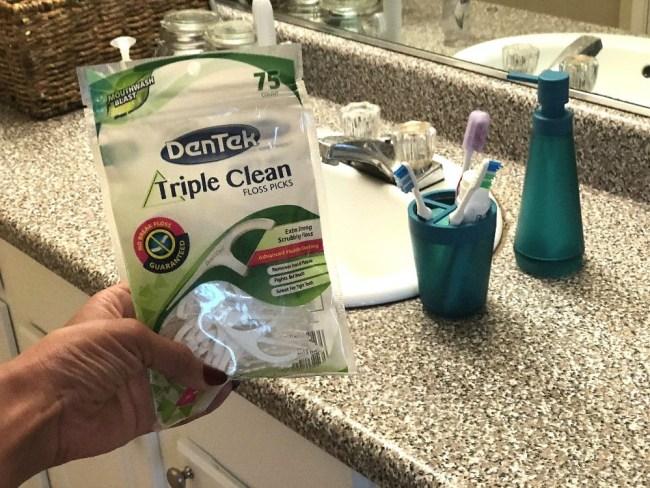 Create healthy oral hygiene habits with DenTek® Triple Clean Floss Picks