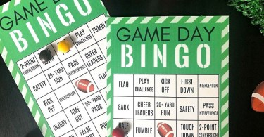 Football bingo cards to print - These Super Bowl bingo cards are perfect for game day