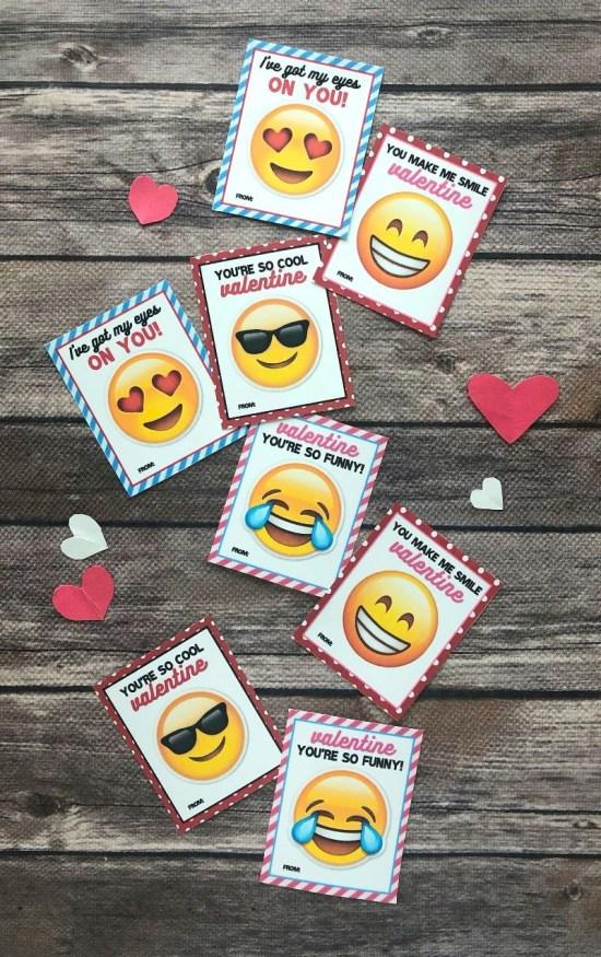 Super cute printable emoji valentines for kids