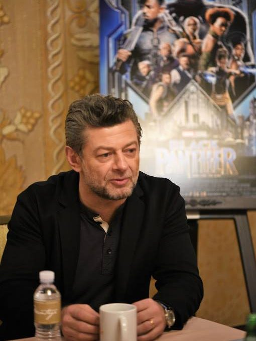 Andy Serkis at the Black Panther Press conference, January 2018