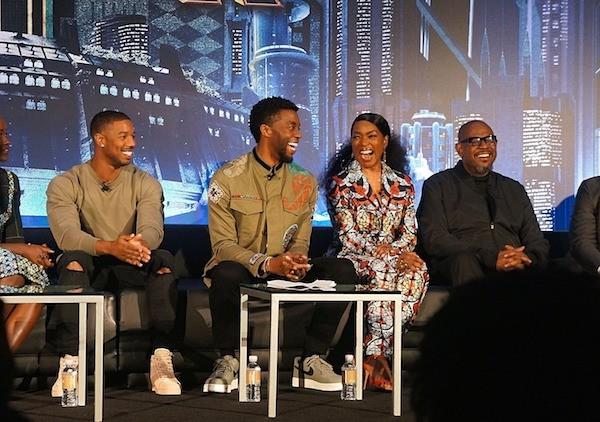 Black Panther cast Michael B Jordan Chadwick Boseman Angela Bassett Forest Whitaker