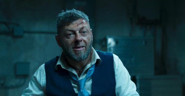Black Panther movie still, Andy Serkis is Klaw