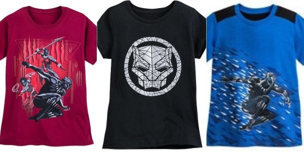 Marvel Black Panther merchandise tshirts for men women and kids