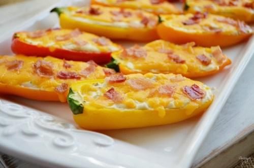 Sweet Pepper Poppers Appetizer - Finding Zest