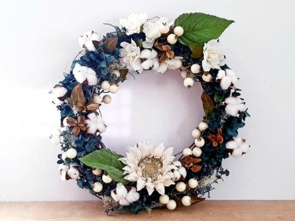 DIY Farmhouse wreath grapevine wreath DearCreatives.com