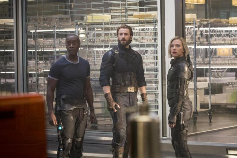 Avengers Infinity War Don Cheadle Chris Evans Scarlett Johannson