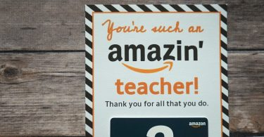 Amazon printable teacher appreciation gift card holder