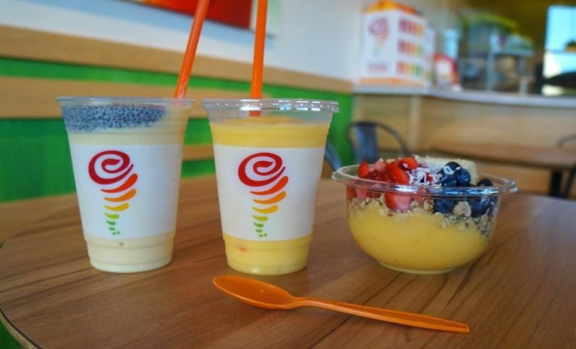 Jamba Juice mango power play smoothies