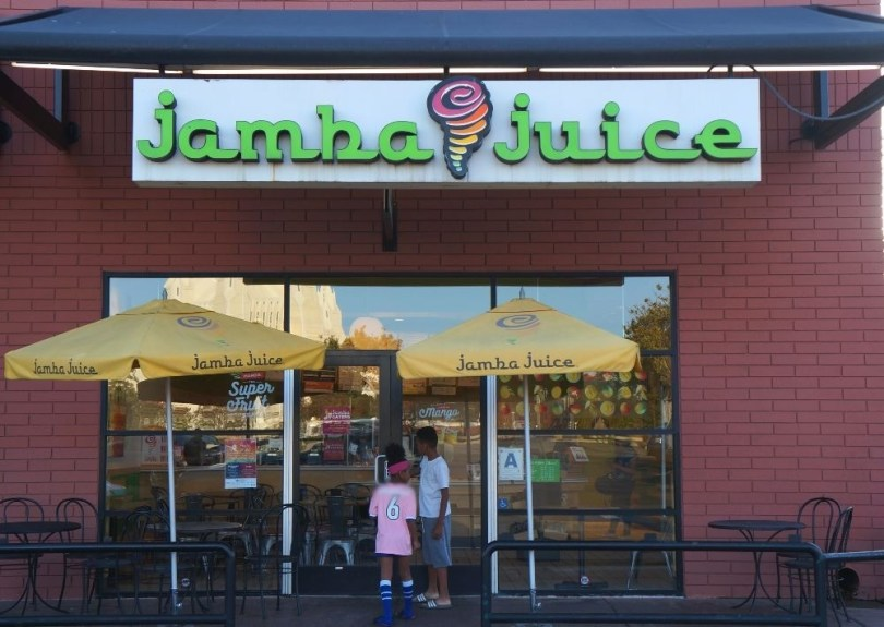Stop at Jamba Juice with the kids for a nutritious pick me up snack