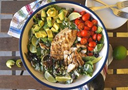 California grilled chicken salad recipe with lime and cilantro
