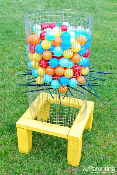 DIY Outdoor Giant Kerplunk Game - All Parenting