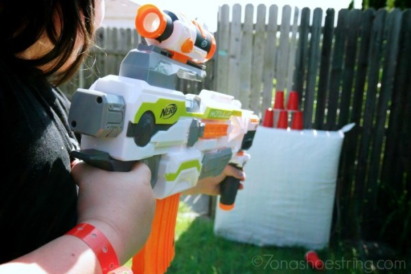 Carnival themed NERF games for the backyard