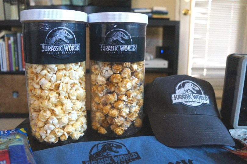 Jurassic World 2 DVD movie popcorn
